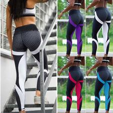 Women Yoga Leggings Fitness Sports Gym Exercise Running Jogging Pants Trouser UK