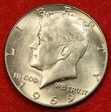 1969-D KENNEDY HALF DOLLAR BU 40% SILVER COIN CHECK OUT STORE KH91