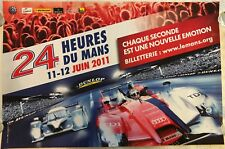 24 Heures Du Mans French Le Mans Advertising Poster 2011 Audi Peugeot