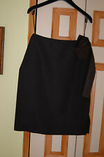 NWT LANVIN SKIRT 100% WOOL FRANCE SZ.36/4 SIDE SILK RIBBON DATAIL RT.$1947