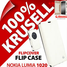 New Krusell Malmo FlipCover Case for Nokia Lumia 1020 White Cover Wallet Folio