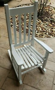 Children's Rocking Chair By Garden Treasures In White -New In Box - PICKUP ONLY