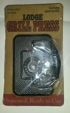 Lodge Logic Pre-Seasoned Rectangular Cast-Iron Grill Press