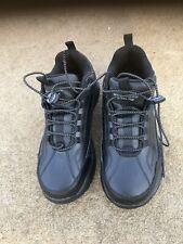 """Skechers Steel Toe 76760EW Black Work Shoes Size 9"""" Men's"""