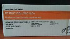 Genuine OKI 44250705 YELLOW Toner Cartridge - For C110 C130N MC160 - 2,500 Pages