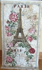 "1 Gorgeous ""Paris"" Cotton Fabric Quilting/Wallhanging Sewing Crafting Panel"