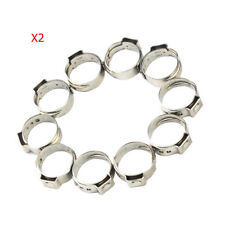 20 x 3/4 '' PEX Stainless Steel Clamp Cinch Rings Crimp pinch Fitting New