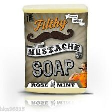 Filthy Mustache - Filthy Farmgirl Large Bar Soap Rose Mint Beeswax Honey