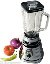Oster 4655 Chrome 220 Volt 3 Speed Blender with Glass Jar 600W 220V 240V Europe