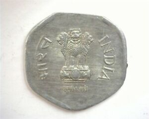 INDIA 1988 20 PAISE UNCIRCULATED CLIPPED PLANCHET MINT ERROR