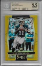 2016 Carson Wentz Select Gold Prizms RC- BGS 9.5 w/all 9.5 & 10 subs... #7/10
