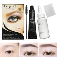 Eyelash Eyebrow Dye Tint Gel Eye Brow Mascara Cream Brush Kit Waterproof