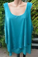 NEW Autograph rrp $69.99 Size 24 Green Aqua Layered Top. Round Neck. Sleeveless.