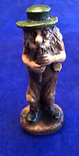 """Vintage Syroco Wood Figure """"Pete"""" The Flute Player"""