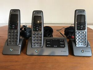 BT Hudson 1500 Cordless Trio Handset Phone with Answer Machine