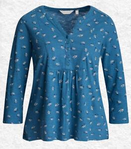 Seasalt Womens Castor Top In Daisy Print Blue RRP £39.95
