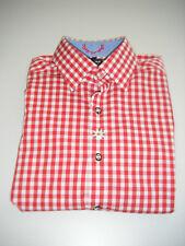 TOP Herren- Trachten- Hemd   *  OLYMP  Level 5  *   Gr. 38  Langarm  rot kariert