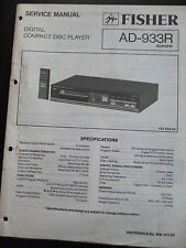 Original Service Manual Fisher Compact Disc Player AD-933