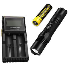 Combo: Nitecore P10GT Flashlight - 900Lm w/NL183 2300mAh Battery & D2 Charger
