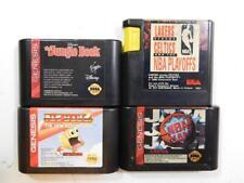 LOT OF 4 SEGA GENESIS GAMES TESTED WORKING JUNGLE BOOK NBA JAM PAC MAN 2