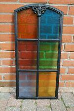 wunderschönes altes Fenster mit bunter Verglasung / Bleiglas - um 1900