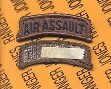 "US ARMY ""AIR ASSAULT"" OD Green Black TAB patch m/e"