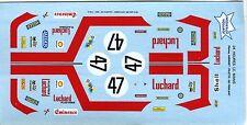 FERRARI 365 GTB4 DAYTONA N°47 LUCHARD LE MANS 1975 PROVENCE MOULAGE DECALS 1/43