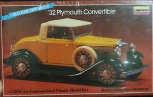Sealed 1/32 Lindberg '32 Plymouth Convertible