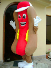 Hot Dog Fast Food Restaurant Adult Mascot Costume Advertising Sale Fast shipping