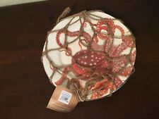 "Pottery Barn Under The Sea 9"" Plate Melamine Set Of 4 New"
