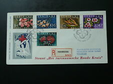 flowers Red Cross 1962 registered FDC Suriname 86998