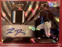 Isan Diaz 2020 Panini Select Rookie Jersey Auto Cracked Ice /25 RJA RC MARLINS