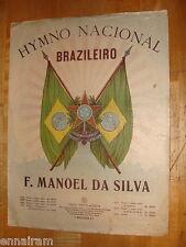 National Hymn of Brazil Hymno Nacional Brazileiro by Da Silva sheet music c.1920