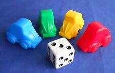 Monopoly Junior Amusement Park Car Tokens & Die Replacement Game Pieces 1999