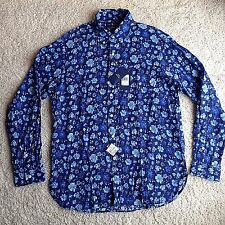NWT Polo Ralph Lauren Men's Button Down Luxury Linen Shirt L Blue Floral $165