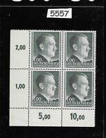 MNH Adolph Hitler stamp block 1ZL / 1944 / Third Reich / Occupied Poland / WWII
