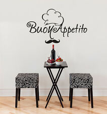 01006 Wall Stickers Wandaufkleber Dekorativ Mustache Gute Appetit 80x46cm