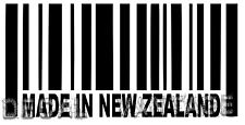 Made In New Zealand Barcode Vinyl Sticker Decal Kiwi - Choose Size & Color