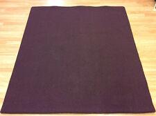 Crucial Trading Indulgent Aubergine Plain Plum Wool Carpet Rug 162x180cm -60%OFF