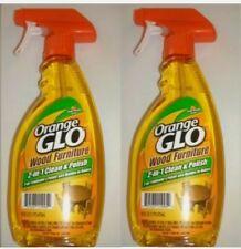 2 Orange GLO WOOD FURNITURE 2-IN -1 CLEAN & POLISH fresh orange scent BRAND NEW