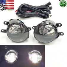 For 2006-2016 Toyota + Switch Wires Built-in LED Fog Daytime Running Light Set