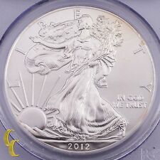 2012-W First Strike $1 Silver American Eagle 1 oz Graded by PCGS MS70