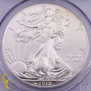 2012-W Primer Huelga de Plata American Eagle 1 OZ Graduado Por Calidad MS70
