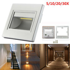 5/10/20/30X Warm White 1.5W LED Stair Step Hall Wall Recessed Corner Lights Lamp