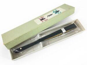 Vintage Japanese Small Gold & Silver Ceremonial Sensu Fan Original Box Nov18-P