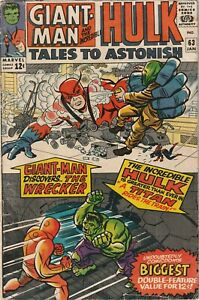 Tales To Astonish # 63 Marvel VG 1st Appearance of The Leader Key Issue 1965