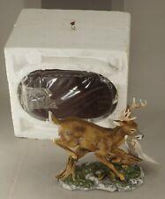 1986 Homco Masterpiece Porcelain Deer In Original Package With Base