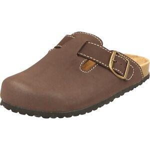 Supersoft Clogs Herren Hausschuhe klassische Pantoffeln braun 176-002 Gummisohle