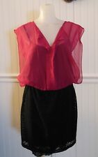 Accidentally in Love Fuchsia / Black Dress Size L NWT