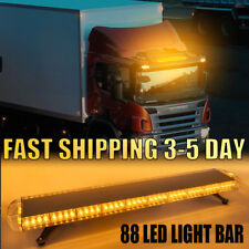 "47"" 88LED Emergency Beacon Warn Tow Truck Response Strobe Light Bar Amber Yellow"